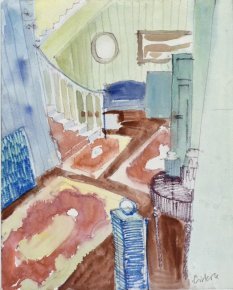 Anne_Cirkola_4_interior_I_24x30cm_Gang_m.Tæppe_akvarel-watercolour_small.JPG