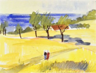 Anne_Cirkola_16_Gult_Landskabm._Havet_40x30cm-akvarel-watercolour-2_small.JPG