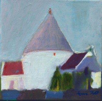 Tone_Myging_akryl_paa_laerred-canvas_20x20cm_Nylars_kirke_church_small.jpg