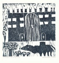 Abdoullah_Idmouh_woodcut_traesnit-slot-camels-castle-30x30cm_small.jpg