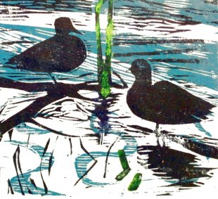 Annelise Mark Andersen - aender - ducks - linoleumprint.jpg