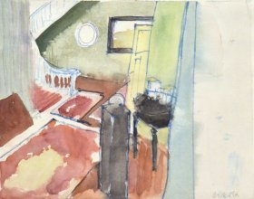 Anne_Cirkola_3_interior-20x24cm_Gang_m.Tæppe_akvarel-watercolour_small.JPG