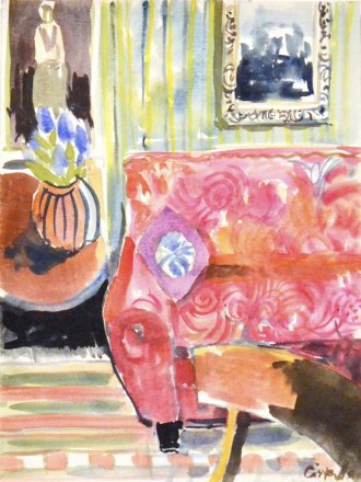 Anne_Cirkola_8_Pink_Sofa_interior-30x40cm_akvarel-watercolour_small.JPG